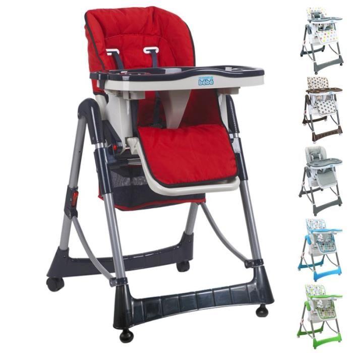 chaise haute reglable