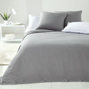 couvre lit gris