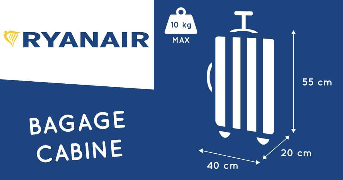 dimension bagage main ryanair