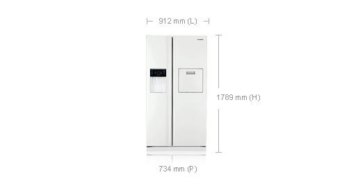 dimension frigo americain