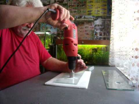 faire un trou dans du verre