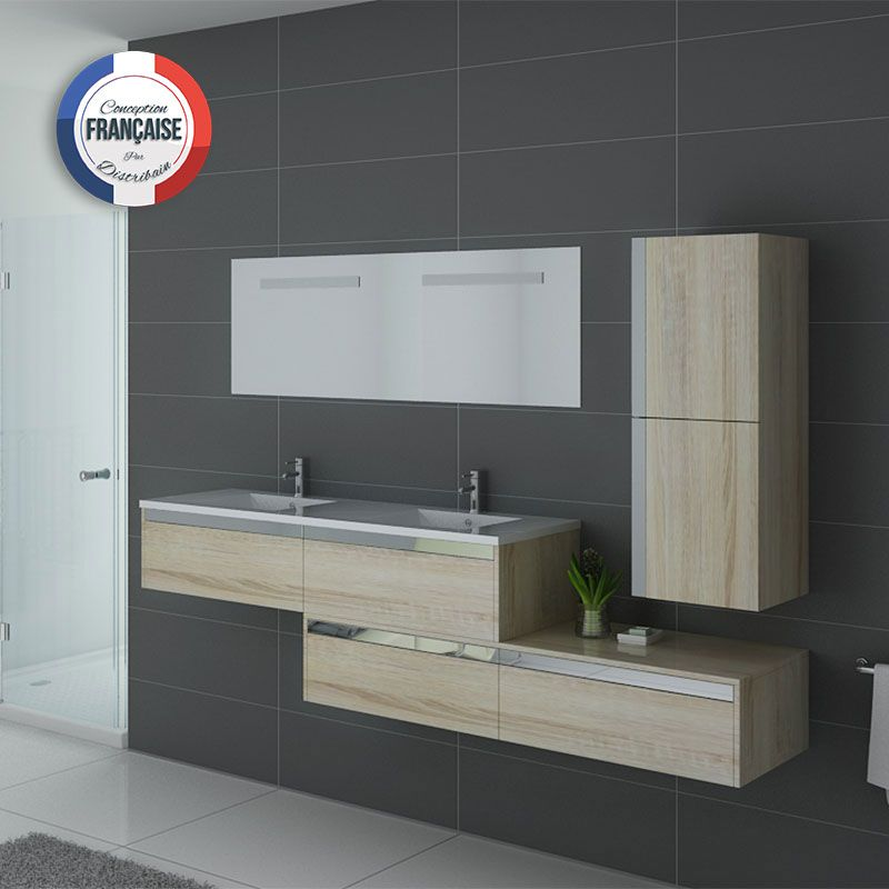 meuble salle de bain asymétrique