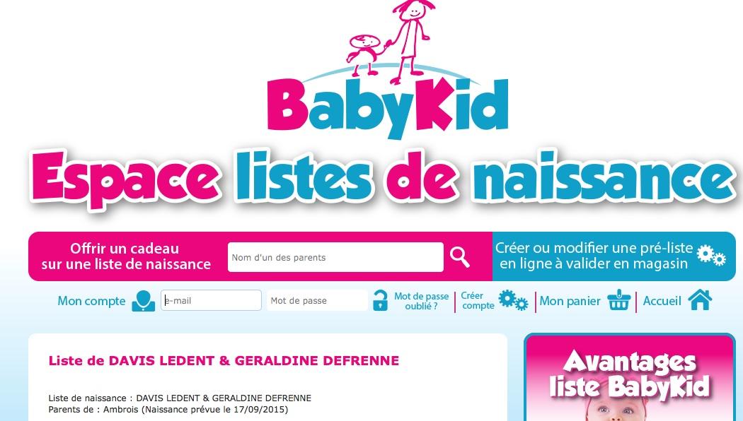 new baby liste de naissance