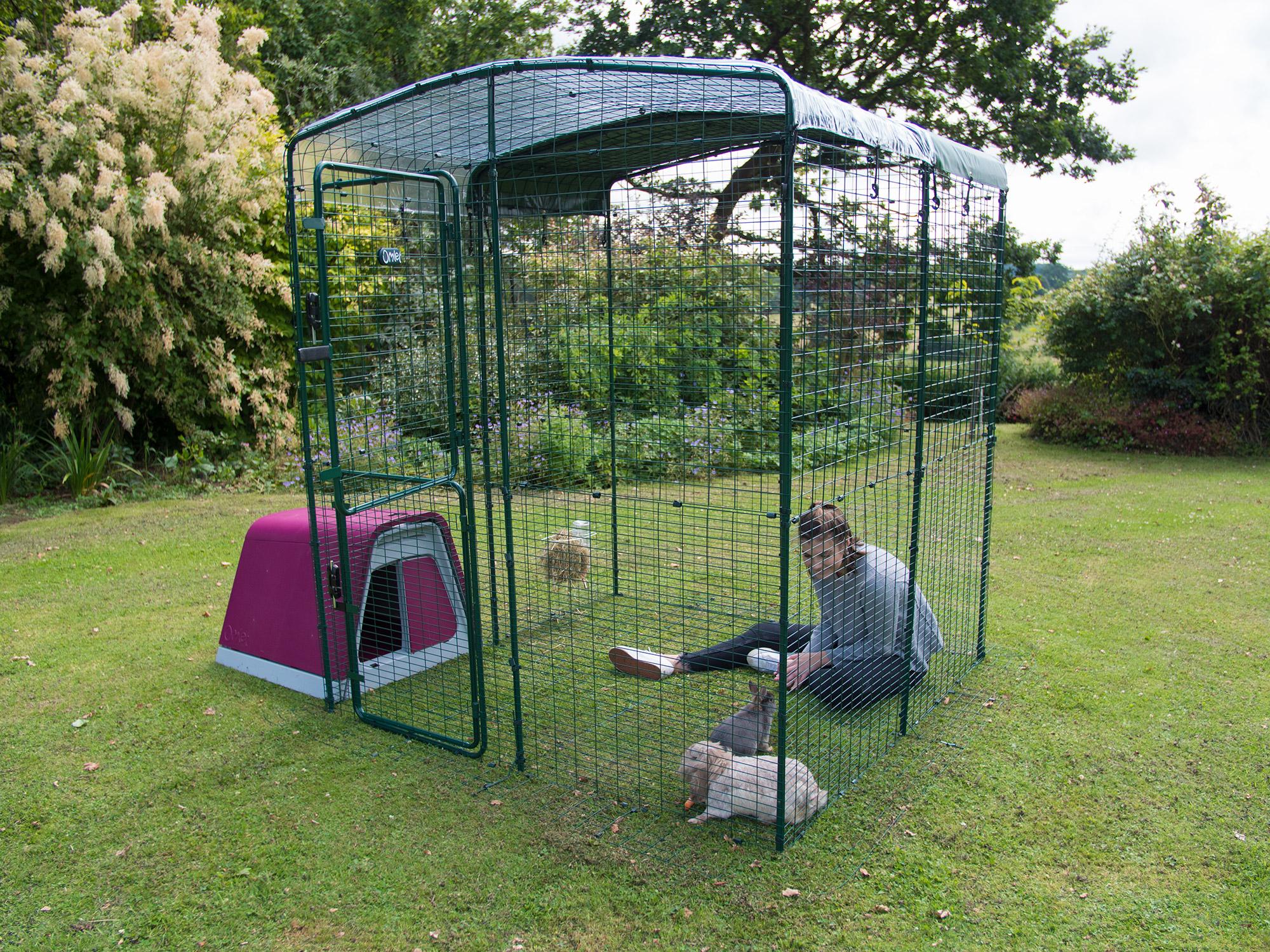 enclos exterieur lapin