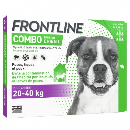 frontline combo 20 40kg 6 pipettes